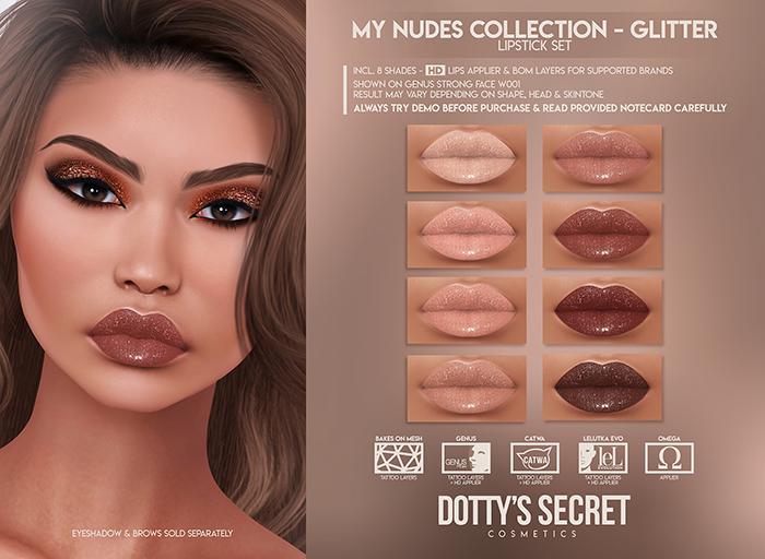 Dotty's Secret - My Nudes - Glitter Lipstick