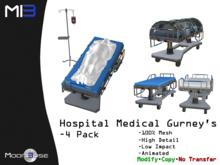 [MB3] Hospital Medical Gurneys - 4 Pack