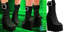 Demon Doll - Ravechella Boots Black