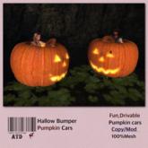 Hallow Bumper Pumpkin Cars