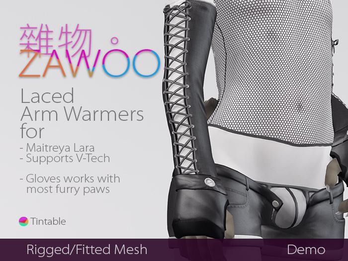 [ZaWoo](DEMO) Laced Arm Warmers for Maitreya Lara, V-Tech Compatible