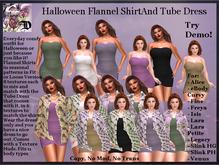 Halloween Flannel Shirt and Tube Dress (ADD ME)