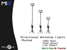 [MB3] Directional Workshop Lights - Rusted