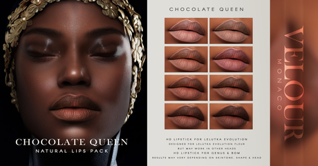 VELOUR: Chocolate Queen HD Lips for Genus & BOM