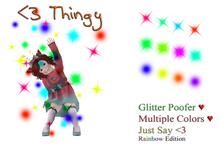 <3 thingy (Rainbow Glitter Version)
