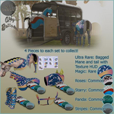 Show Travel Set/ Friesian/ Roses Boots.C. VOUCHER
