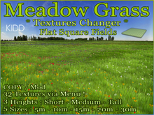 KIDD Meadow Grass * 32 Textures via Menu * Flat Square Fields * 5 sizes * 3 heights * Copy Mod