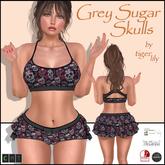 Tigerlily Designs : Sporty Skulls Grey (Add/Wear)