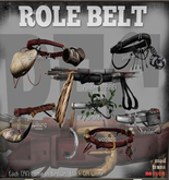 PFC~Role Belt - Raider (brown) RARE