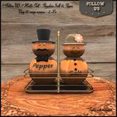Super Autumn Sales !! Follow US !! Hello Fall - Pumpkins Salt & Pepper COPY BOX