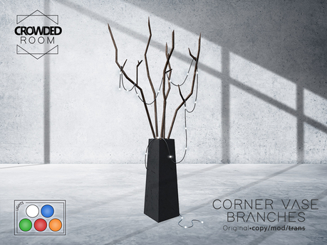 Crowded Room - Corner Vase with Branches