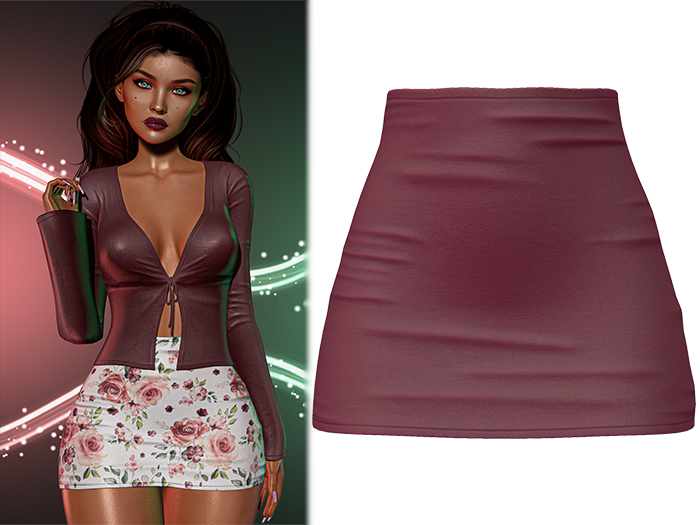 !PCP :: Mariah Skirt [Cherry]