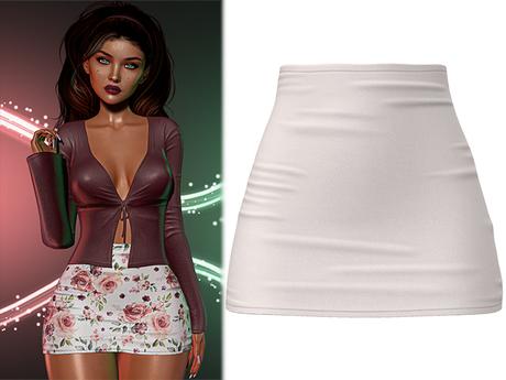 !PCP :: Mariah Skirt [White]