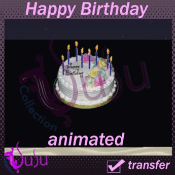 Second Life Marketplace Happy Birthday Cake With Animated Candles