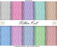 Ribbon Knit Winter Essentials Kit 10 Seamless Textures NM