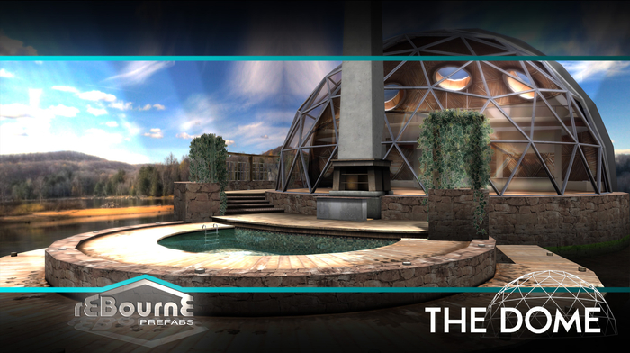 reBourne - The Dome - Modern contemporary eco dome home UNFURNISHED ( + pool ) ( GROUND AND SKYBOX INCLUDED )