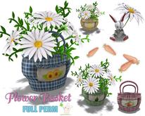 [ FULL PERM ] Basket & Bunny / Flower Basket / Easter