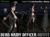 [M3] ☠ Dead Army Officer Outfit ☠ for Maitreya Lara