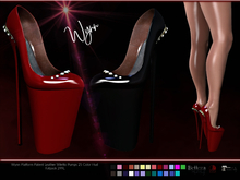 *PROMO Patent leather, Latex shiny Wynn High Platform Stilleto heels with Gem accents, 15 color Fatpack sale,High Heels