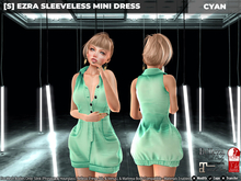 [S] Ezra Sleeveless Mini Dress Cyan