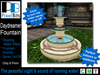 Elegant Daydreamer Fountain - sound & spray on/off