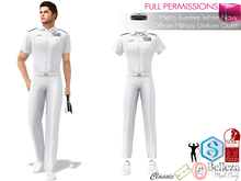 SAVE! 4in1 Men's Summer White Navy Officer Military Uniform Outfit For Belleza Jake Slink Male Signature Gianni Ocacin