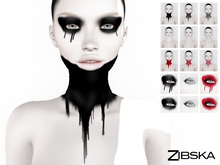 Zibska BOM Pack ~ Lert Neck Tattoo and Eyemakeup in 3 colors in 2 variations with tattoo and universal tattoo BOM layers
