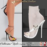 ::DPB:: Cattarina Heels - White *Maitryea, Hourglass & Legacy*