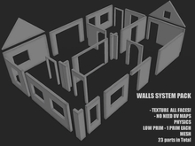 Walls System Pack Mesh - TEXTURE ALL FACES - FULL PERMS