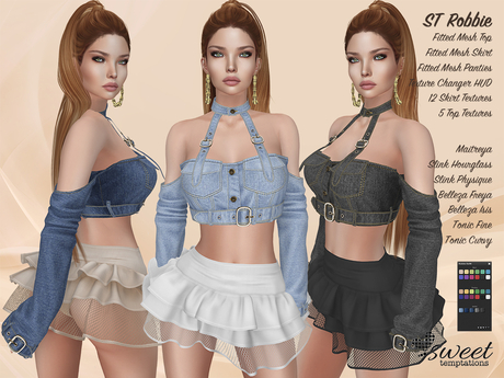 ST :: Robbie Outfit for Maitreya Lara, Slink (P, H), Belleza ( I, F) and Tonic (C, F). 12 Tex HUD. Mix & Match