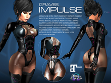 GRAVES Impulse - leather latex bodysuit, catsuit, plugsuit, undersuit - Maitreya and Omega appliers