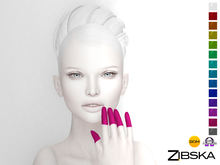 Zibska ~ Tips Finger Tattoos in 15 colors with Omega Appliers, Tattoo & Universal Tattoo BOM layers