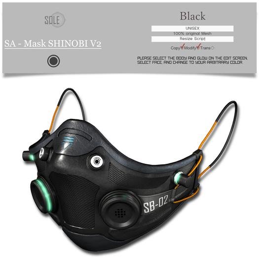 :::SOLE::: SA - Mask SHINOBI V2 (Black)