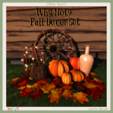 {Why Not?} Fall Decore Set-Boxed