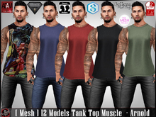 [ Mesh ] 12 Models Tank Top Muscle  - Arnold