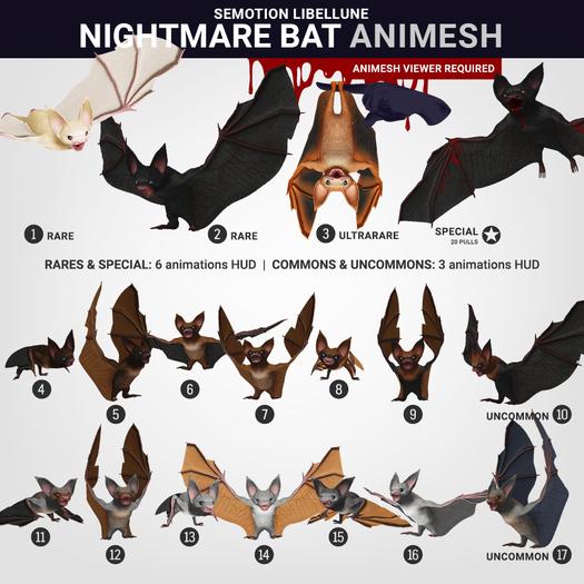 SEmotion Libellune Nightmare Bat Animesh #10 UNCOMMON