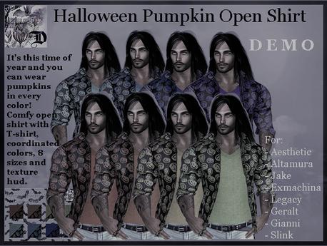 Halloween Pumpkin Open Shirt DEMO (ADD ME)