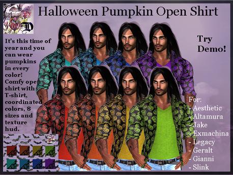 Halloween Pumpkin Open Shirt (ADD ME)