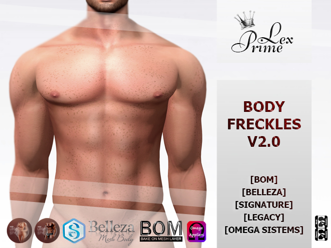 ♕ Lex Prime - Body Freckles V2.0 (Applier   BoM) Demo