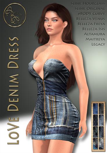 ***ArisArisB&W~LoVe Denim Dress - HUD(ADD)