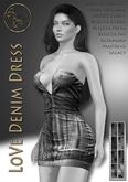 DEMO***ArisArisB&W~LoVe Denim Dress - HUD(ADD)