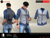 A&D Clothing - Shirt&Vest -Salvatore- Grey