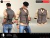 A&D Clothing - Shirt&Vest -Salvatore- Coffee