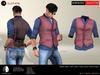 A&D Clothing - Shirt&Vest -Salvatore- Burgundy
