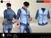 A&D Clothing - Shirt&Vest -Salvatore- Blue