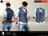 A&D Clothing - Shirt&Vest -Salvatore- Navy