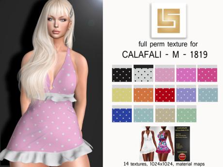 [LS]TEXTURE (FAT) PACK DRESS POLKA  - CALAFALI - M - 1819