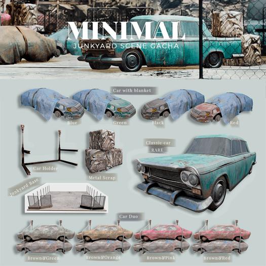 MINIMAL - Junkyard Car Duo Brown&Pink