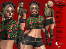**NASCHA BLACK TRIBAL STYLE COMPLET OUTFIT** (WEAR)