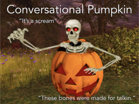 Have Chat With Conversational Halloween Pumpkin!